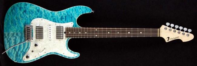 DST-Classic Droptop Quilted Maple (Bora Bora Blue)