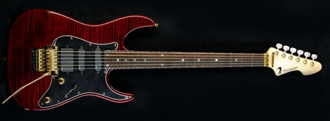DST-Classic24 Droptop Flame Maple (Black Cherry) Gotoh GE1996T