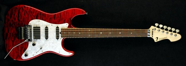 DST-Classic Droptop w/Floyd Rose Quilted Maple(Trans Red)