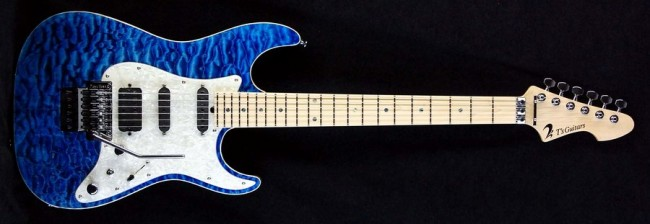 DST-Classic Droptop w/Floyd Rose Quilted Maple(Trans Blue)